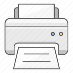 document, function, hardware, paper, print, printer, printing icon