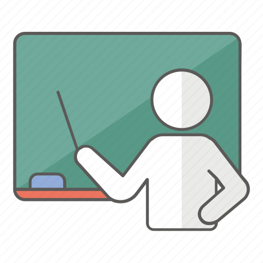 board, education, instruction, lecture, pointer, school, teacher icon