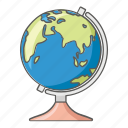 atlas, geography, globe, map, world icon
