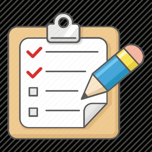 agenda, check, checklist, clipboard, list, schedule, to do icon