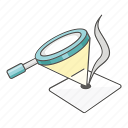 burn, experiment, lens, magnifying glass, science, scientific, sunlight icon