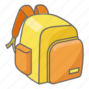 backpack, bag, camping, hiking, pack, school, schoolbag icon