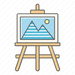 art, class, drawing, easel, landscape, painting, school icon
