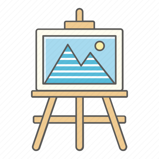 Art, class, drawing, easel, landscape, painting, school icon - Download on Iconfinder