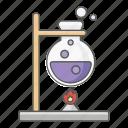 beaker, boil, boiling, bunsen, burner, chemistry, science icon