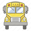 army, bus, elementary, jail, prison, school, transport icon