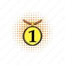 achievement, activity, comics, interface, medal, place, prize icon