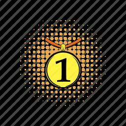 achievement, activity, comics, interface, medal, place, prize icon