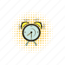 alarm, alert, bell, circle, clock, comics, round icon