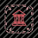 building, educational institute, school, university icon