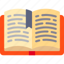 book, bookmark, open, school, study icon