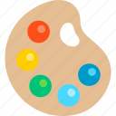 design, paint, palette, tool icon