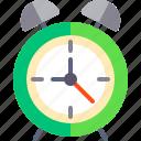 alarm, clock, hour, ring icon