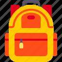 backpack, education, student, university icon