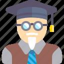 processor, professor, school, teacher icon