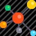 atom, chemistry, education, laboratory, molecule, physics, science icon