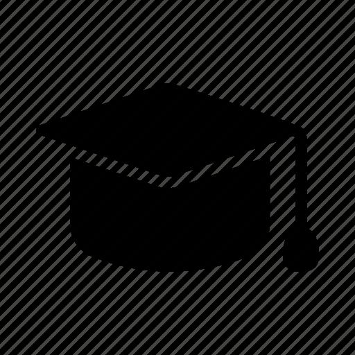 academic cap, degree, diploma, graduation, mortarboard icon
