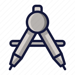 collage, compass, education, school, sience, tool icon