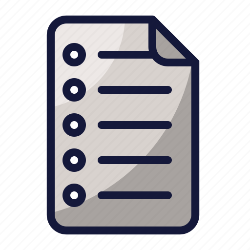 collage, education, file, note, school, sience icon