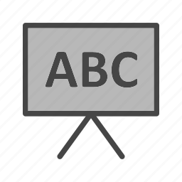 board, presentation, teaching, whiteboard icon