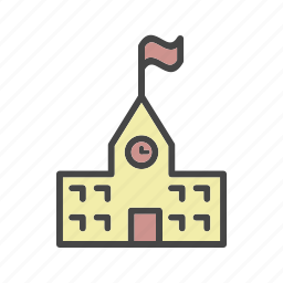 building, college, department, school icon