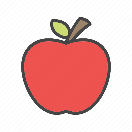 apple, food, fruit, healthy icon