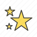 night, rating, stars, weather icon