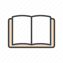 book, notebook, reading, study icon