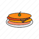pancake, pancakes, pita icon