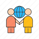 cooperation, partnership, people, teamwork icon