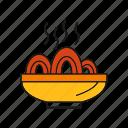 noodle, pasta, spaghetti icon