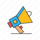 advertising, megaphone, promotion icon