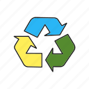 cycle, refresh, turn icon