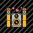 announcement, loud, loudspeaker, sound, speaker icon