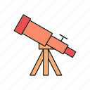 astrology, astronomy, space, telescope, view, zoom icon