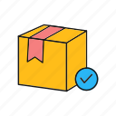 box, check, delivery, of, package, valid, warehouse icon