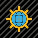 configuration, global, setting, world icon