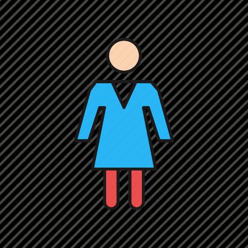 girl, person, woman icon