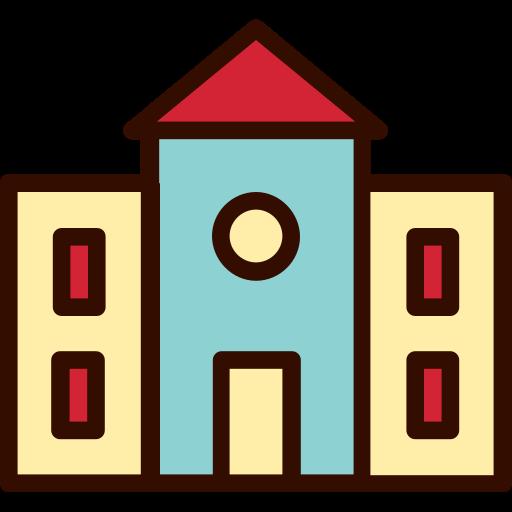 building, construction, education, elementary, school, university icon