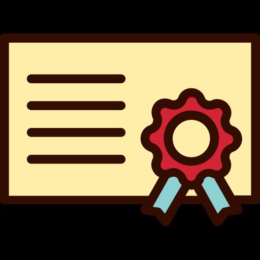 award, certificate, education, emblem, medal icon