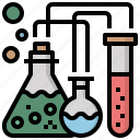 chemistry, science, tube, chemical, flasks, test, education