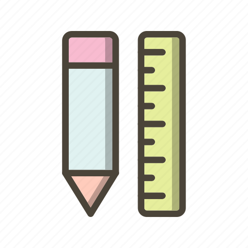 pencil, pencil and ruler, ruler, write icon