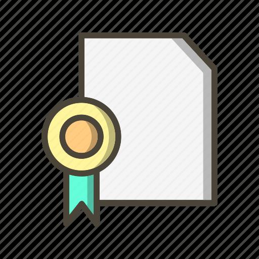 certificate, certification, diploma, graduation icon