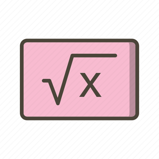 formula, learning, study icon