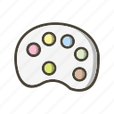 color pallete, design, paint, painting icon