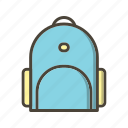 bag, bag pack, school bag, student bag icon