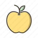 apple, education, fruit, learning icon