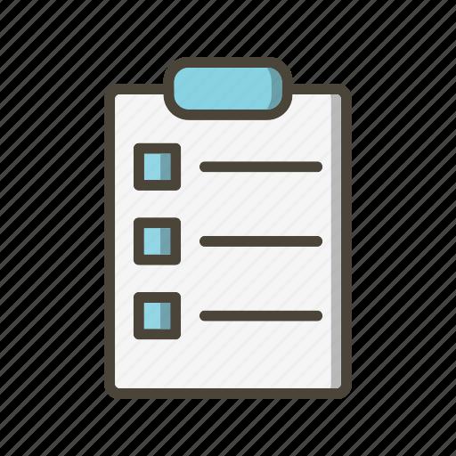 check list, file, list icon