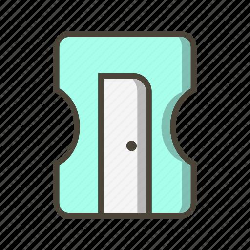 pencil, sharpener, stationary, tool icon