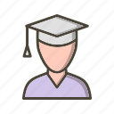 avatar, male, male student, student, user icon